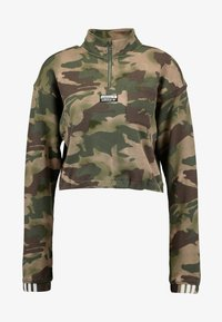adidas Originals - HALF ZIP - Sweatshirt - hemp/earth green/base green/cargo brown - 4