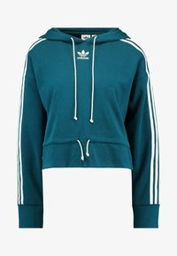 adidas Originals - BELLISTA 3 STRIPES CROPPED HOODIE - Jersey con capucha - tech mineral - 5