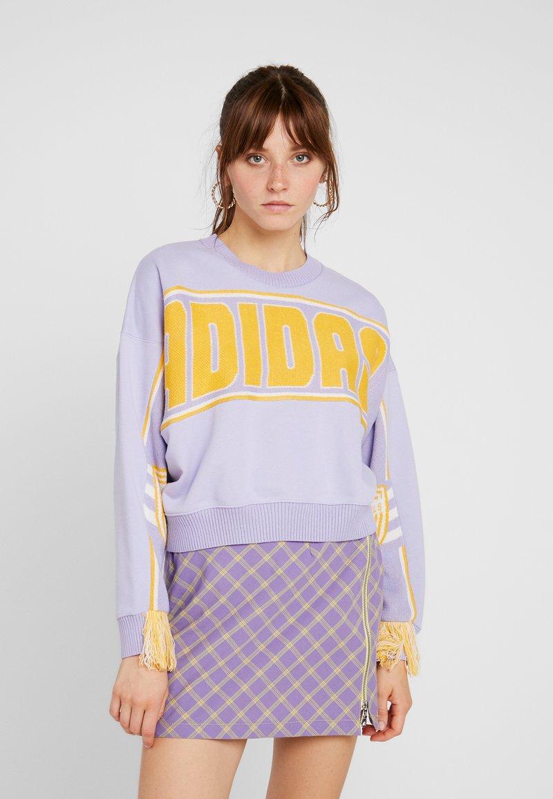 adidas Originals - CROPPED PULLOVER - Sweater - dust purple