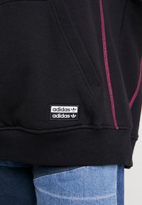 adidas Originals - LONG HOODIE - Mikina skapucí - black/white - 5