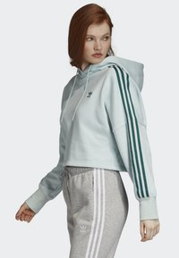 adidas Originals - CROPPED HOODIE - Hoodie - green - 2