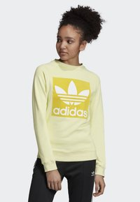 adidas Originals - TREFOIL SWEATSHIRT - Sweatshirt - yellow - 0