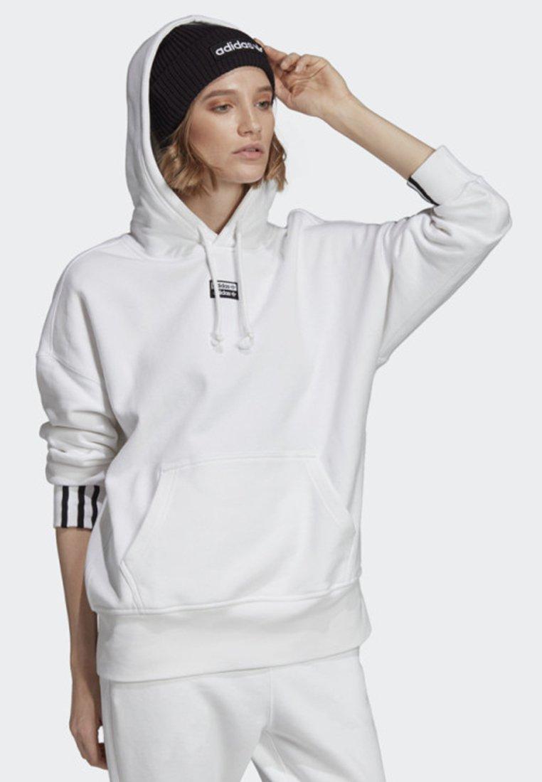 adidas Originals - HOODIE - Kapuzenpullover - white