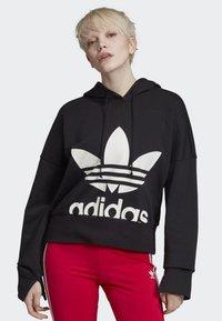 adidas Originals - CROPPED HOODIE - Sweatshirt - black - 0