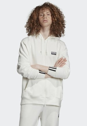 FULL-ZIP HOODIE - Zip-up hoodie - white