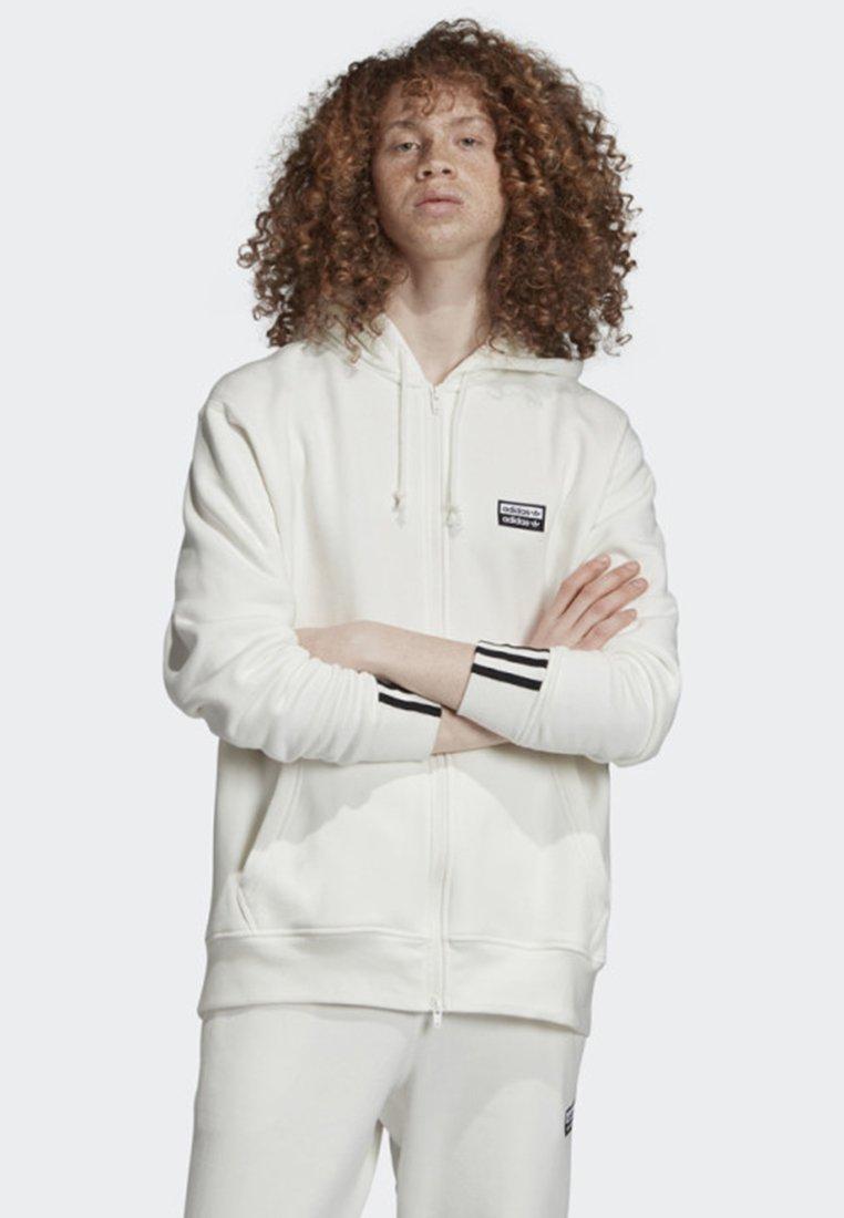 adidas Originals - FULL-ZIP HOODIE - Hoodie met rits - white