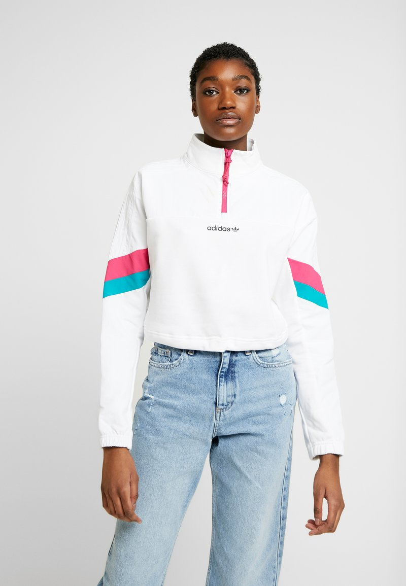 adidas Originals - BLOCKED CROP - Bluza - white