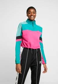 adidas Originals - BLOCKED CROP - Sweatshirt - pink - 0