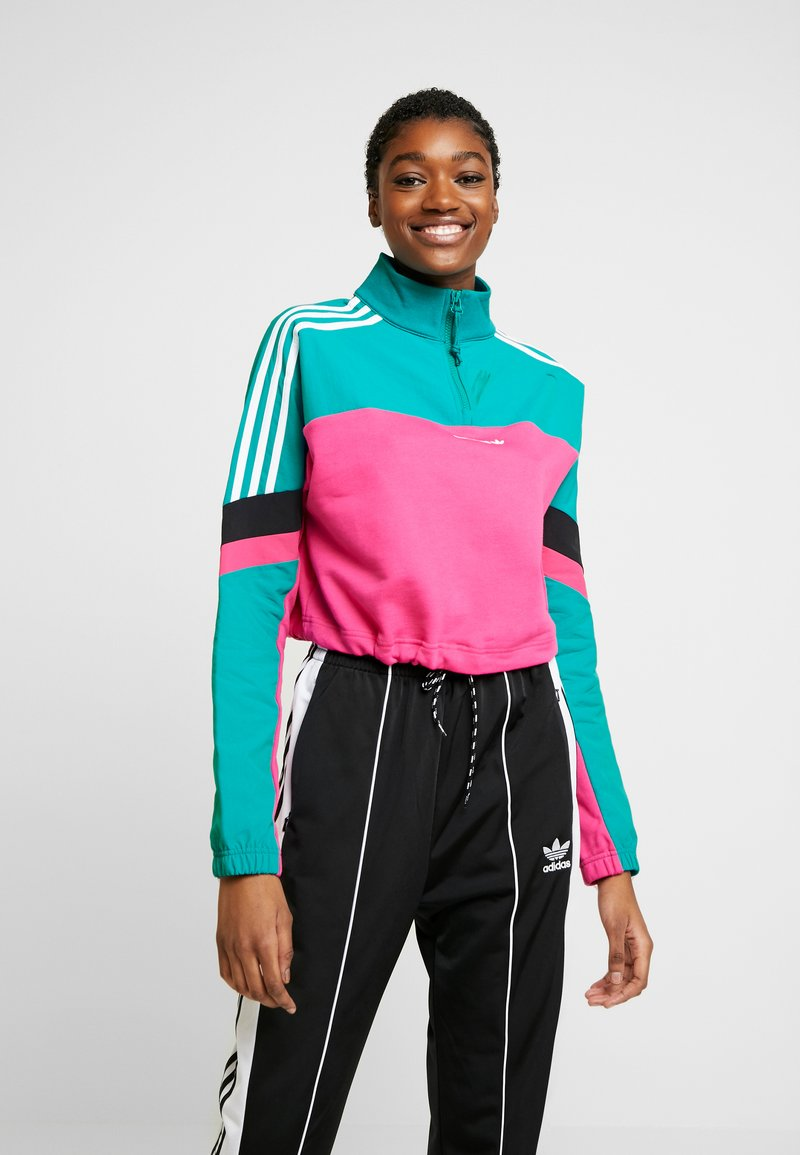 adidas Originals - BLOCKED CROP - Sweatshirt - pink
