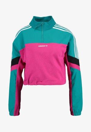BLOCKED CROP - Sweatshirt - pink