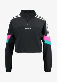 adidas Originals - BLOCKED CROP - Bluza - black - 4