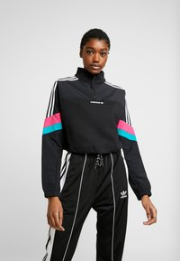 adidas Originals - BLOCKED CROP - Bluza - black - 0