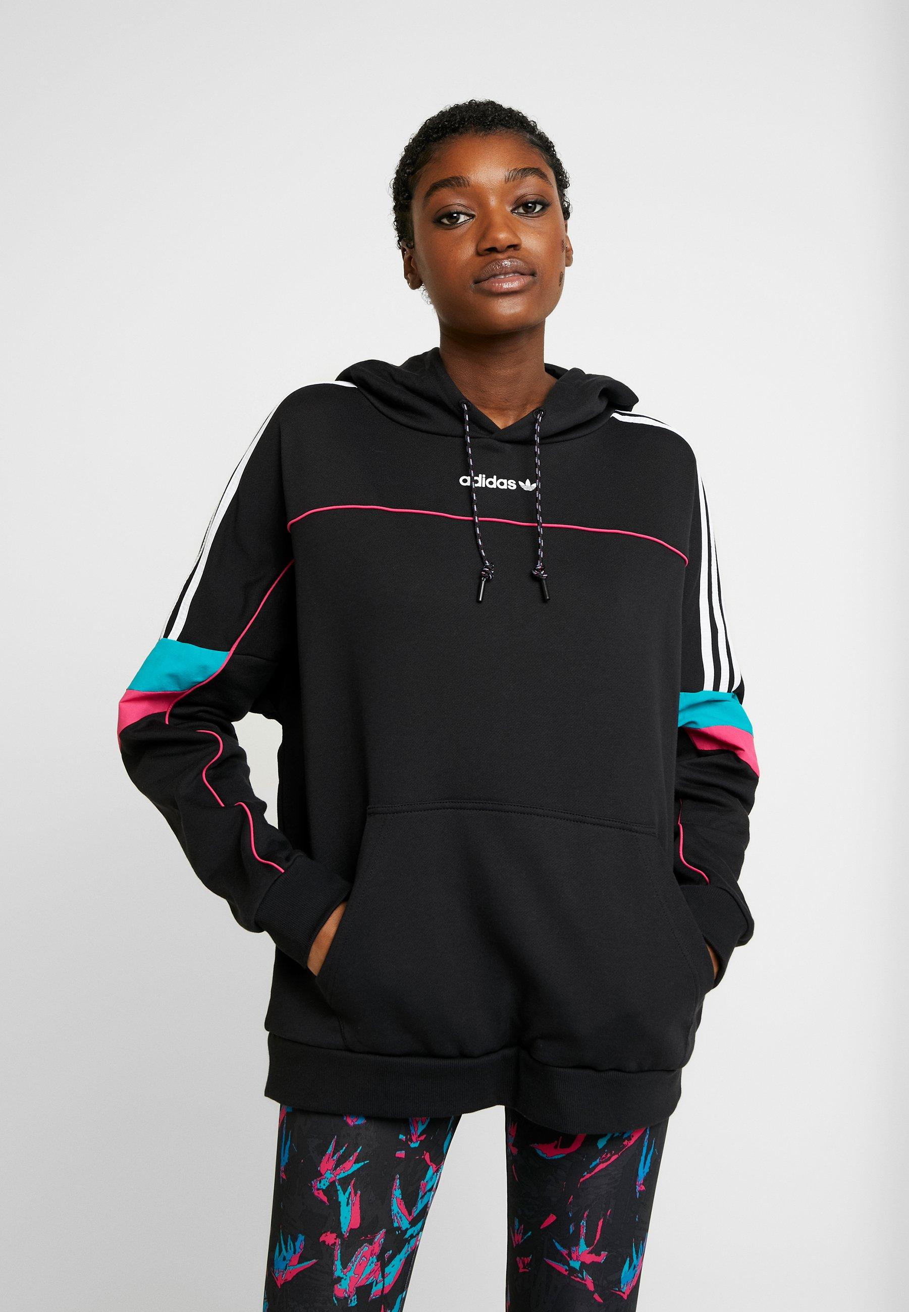 HoodieFelpa Boyfriend Black Originals Con Adidas Cappuccio c3ALR4jq5