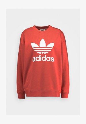 ADICOLOR TREFOIL LONG SLEEVE - Sweatshirt - trace scarlet/white