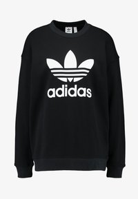 adidas Originals - ADICOLOR TREFOIL LONG SLEEVE PULLOVER - Sweater - black/white - 4