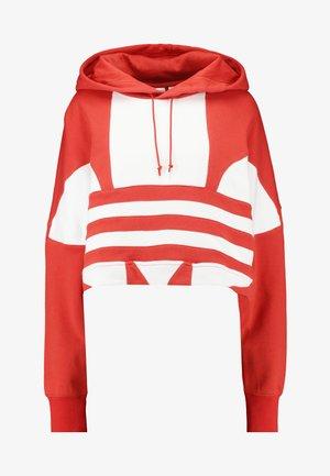 LOGO HOOD - Sweat à capuche - lush red/white