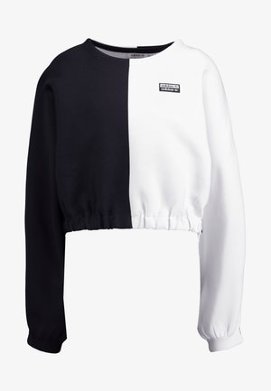 R.Y.V. CREW LONG SLEEVE PULLOVER - Maglione - black/white