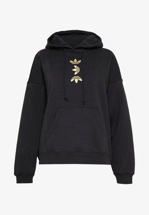 LOGO HOODIE - Bluza z kapturem - black/gold