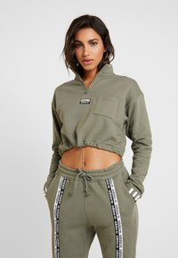 adidas Originals - CROPPED - Mikina - legacy green - 0
