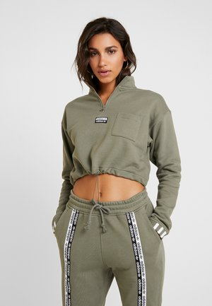 CROPPED - Sweatshirt - legacy green