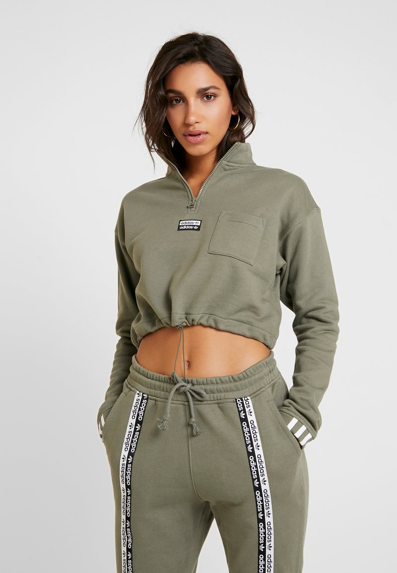 adidas Originals - CROPPED - Mikina - legacy green