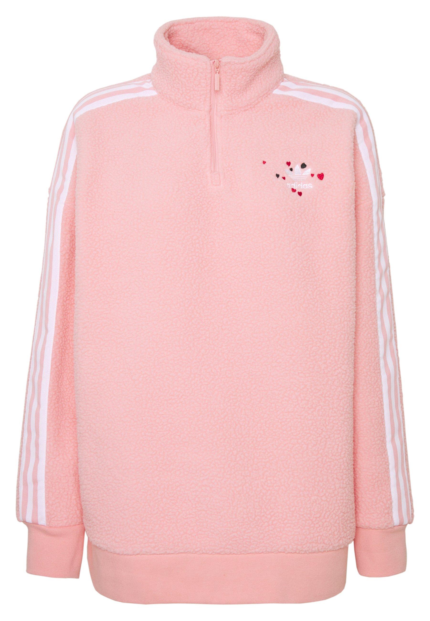 Adidas Originals Sport Inspired Polarfleece Half Zip - Fleece Jumper Glory Pink