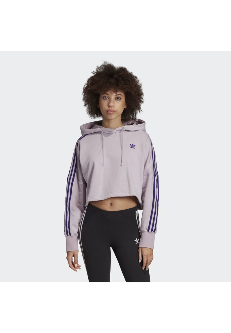 adidas Originals - CROPPED HOODIE - Kapuzenpullover - purple