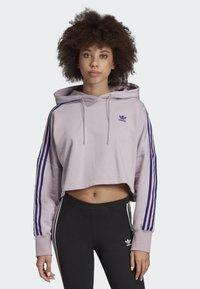 adidas Originals - CROPPED HOODIE - Luvtröja - purple - 0