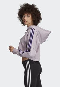 adidas Originals - CROPPED HOODIE - Luvtröja - purple - 2