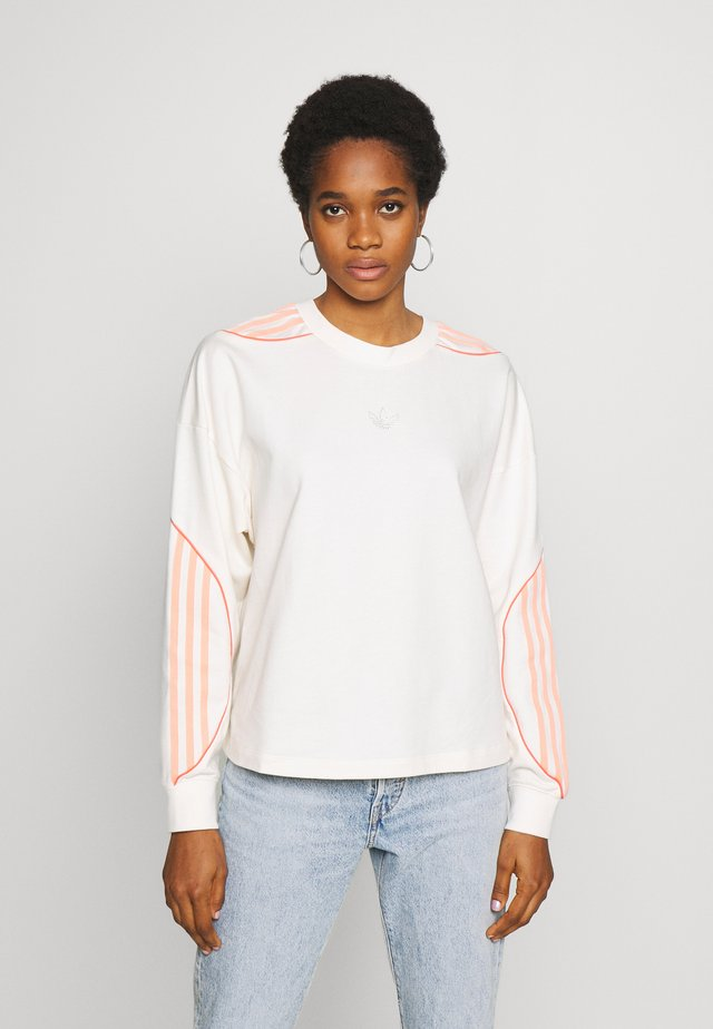 FAKTEN CROPPED SWEATER LONG SLEEVE PULLOVER - Bluza - chalk white
