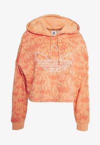 adidas Originals - HOODIE CROP - Bluza z kapturem - chalk coral - 4