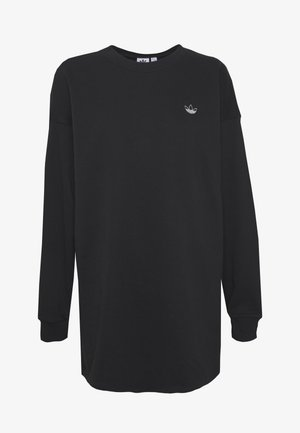 FAKTEN LONG SWEATER LONG SLEEVE PULLOVER - Sweatshirt - black