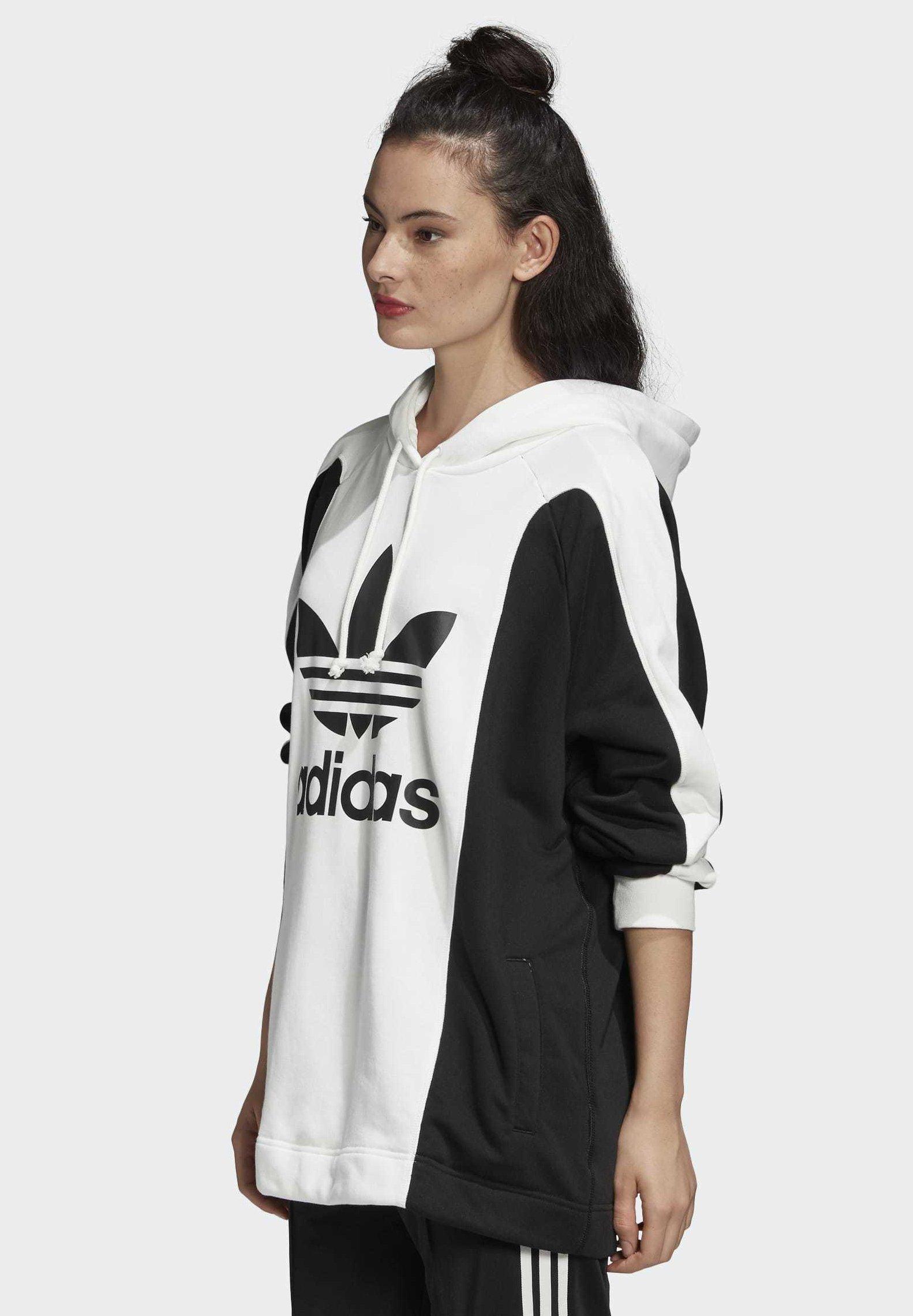 adidas Originals BELLISTA  - Felpa con cappuccio - white/black