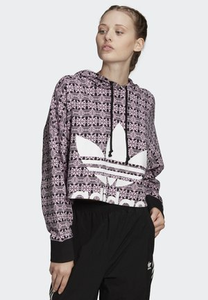 TREFOIL ALLOVER PRINT HOODIE - Sweat à capuche - purple
