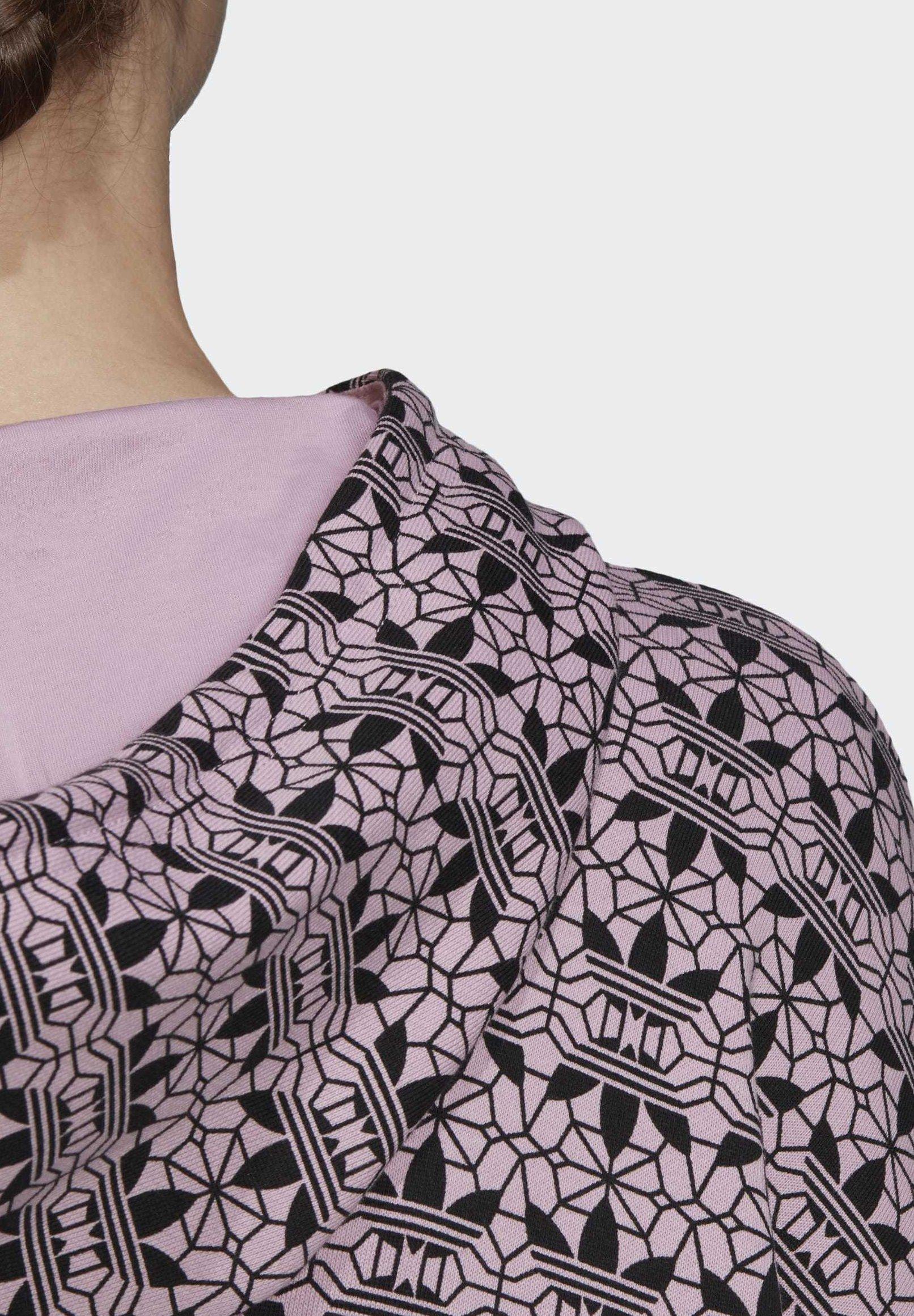 Adidas Originals Trefoil Allover Print Hoodie - Luvtröja Purple