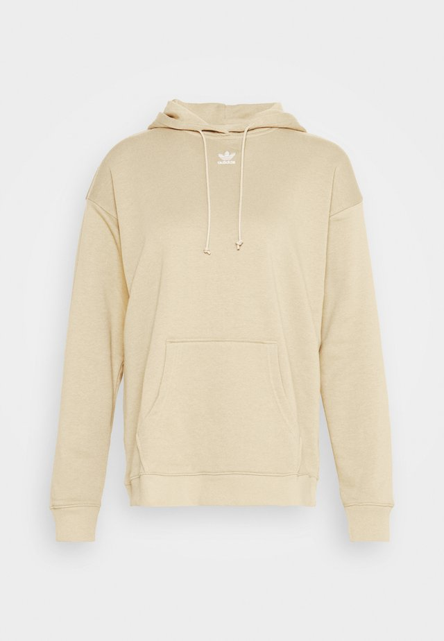 TREFOIL ESSENTIALS HOODED - Bluza z kapturem - linen khaki
