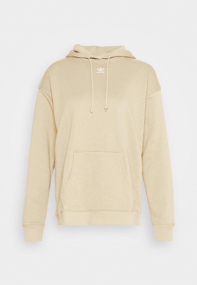 adidas Originals - TREFOIL ESSENTIALS HOODED - Bluza z kapturem - linen khaki