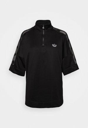 QUARTER ZIP - T-shirts - black