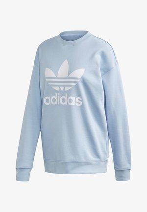 TREFOIL CREW SWEATSHIRT - Sweatshirt - blue