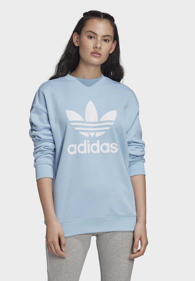 adidas Originals - TREFOIL CREW SWEATSHIRT - Sweater - blue