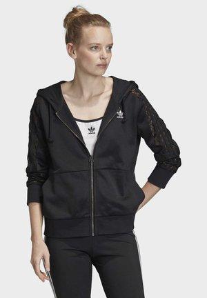 LACE HOODIE - Zip-up hoodie - black