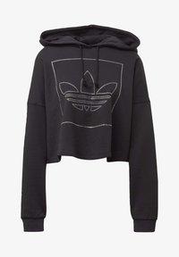 adidas Originals - CROPPED HOODIE - Bluza z kapturem - black - 7