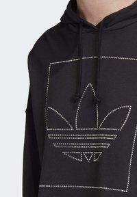 adidas Originals - CROPPED HOODIE - Bluza z kapturem - black - 6