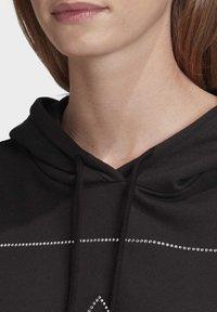 adidas Originals - CROPPED HOODIE - Bluza z kapturem - black - 4