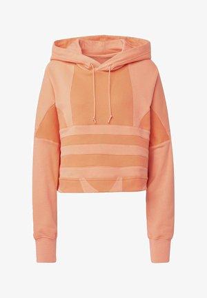 CROPPED LARGE LOGO HOODIE - Bluza z kapturem - orange
