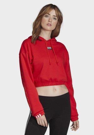 CROPPED HOODIE - Bluza z kapturem - red