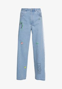 adidas Originals - TRACKPANT - Flared Jeans - clear sky - 5