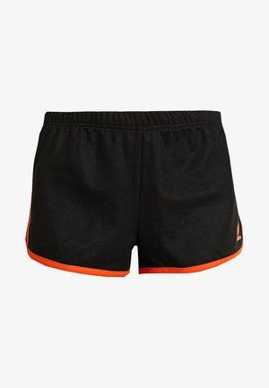 Kraťasy - black/craft orange