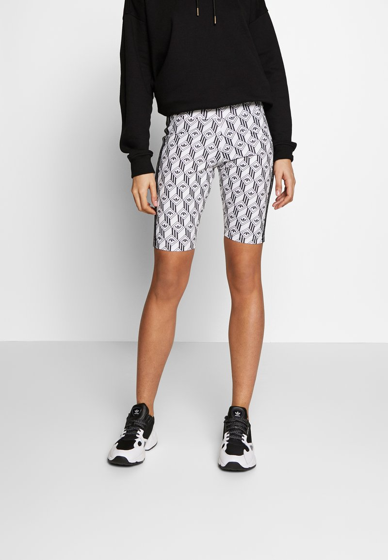 adidas Originals - CYCLING SHORTS - Shorts - black/white