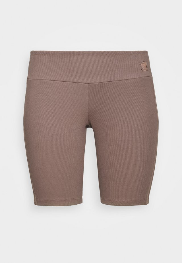 TIGHT SPORTS INSPIRED HIGH RISE - Shorts - brown